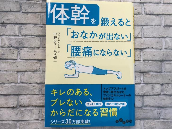【レビュー】体幹を鍛えると「おなかが出ない」「腰痛にならない」